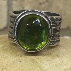 Silpada Green Quartz Ring size 6 - NWOT